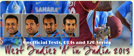 India A vs West Indies A Cricket Series 2013